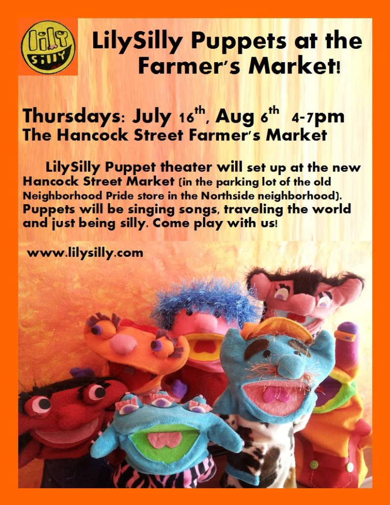 Puppets at the Market Flyer